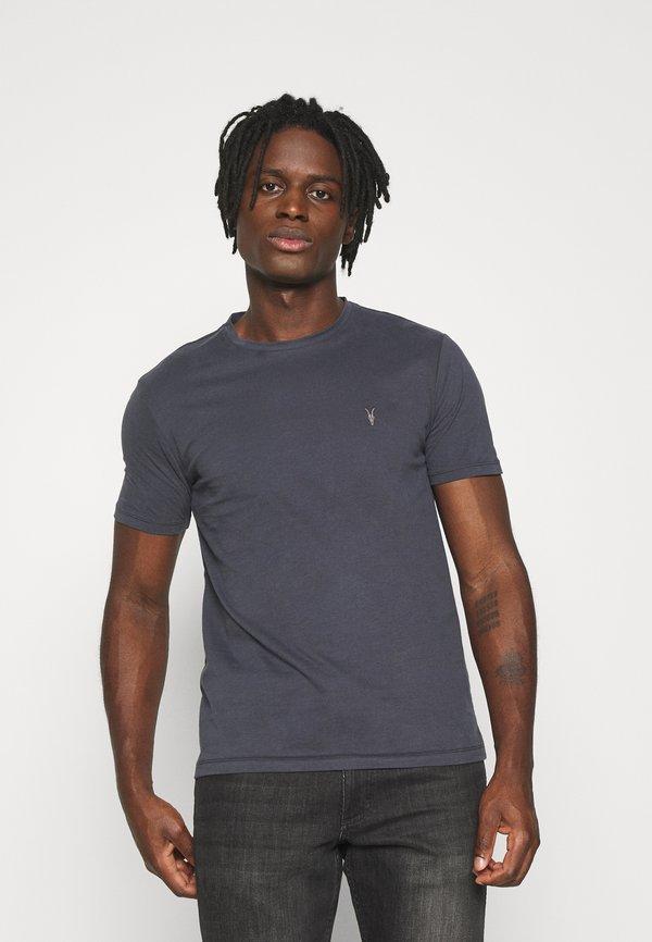 AllSaints BRACE TONIC CREW - T-shirt basic - aster blue/niebieski Odzież Męska IHJK