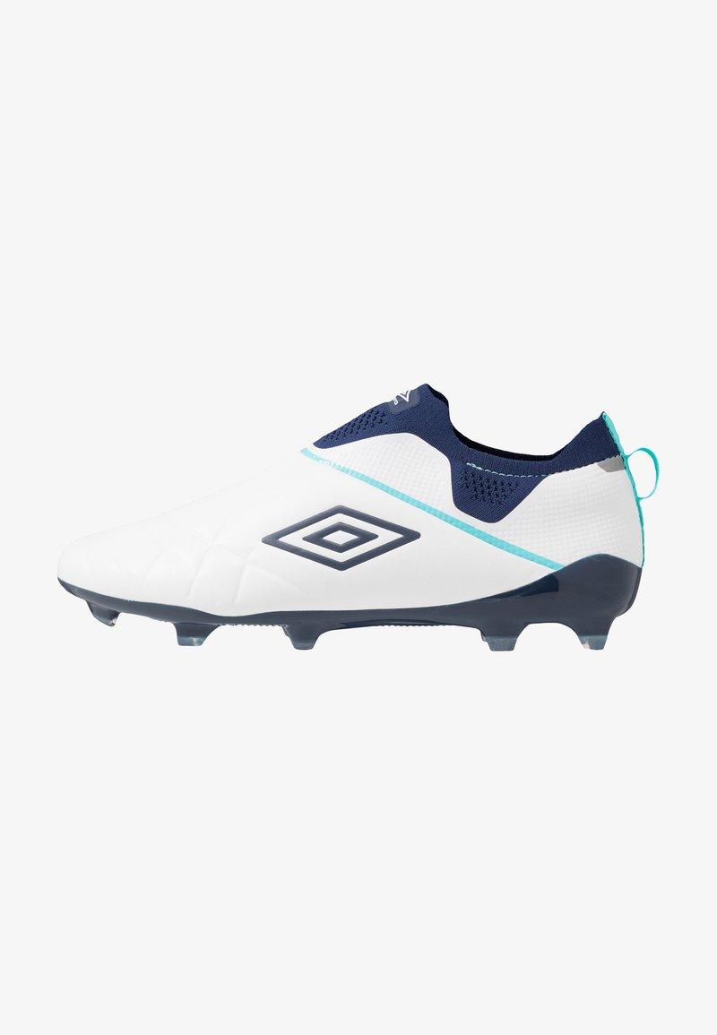 Umbro - MEDUSÆ III ELITE FG - Moulded stud football boots - white/medieval blue/blue radiance