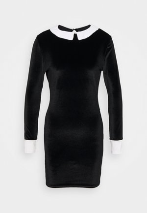EXAGGERATED COLLAR DRESS - Shift dress - black