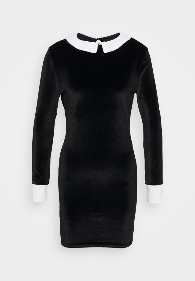 EXAGGERATED COLLAR DRESS - Tubino - black