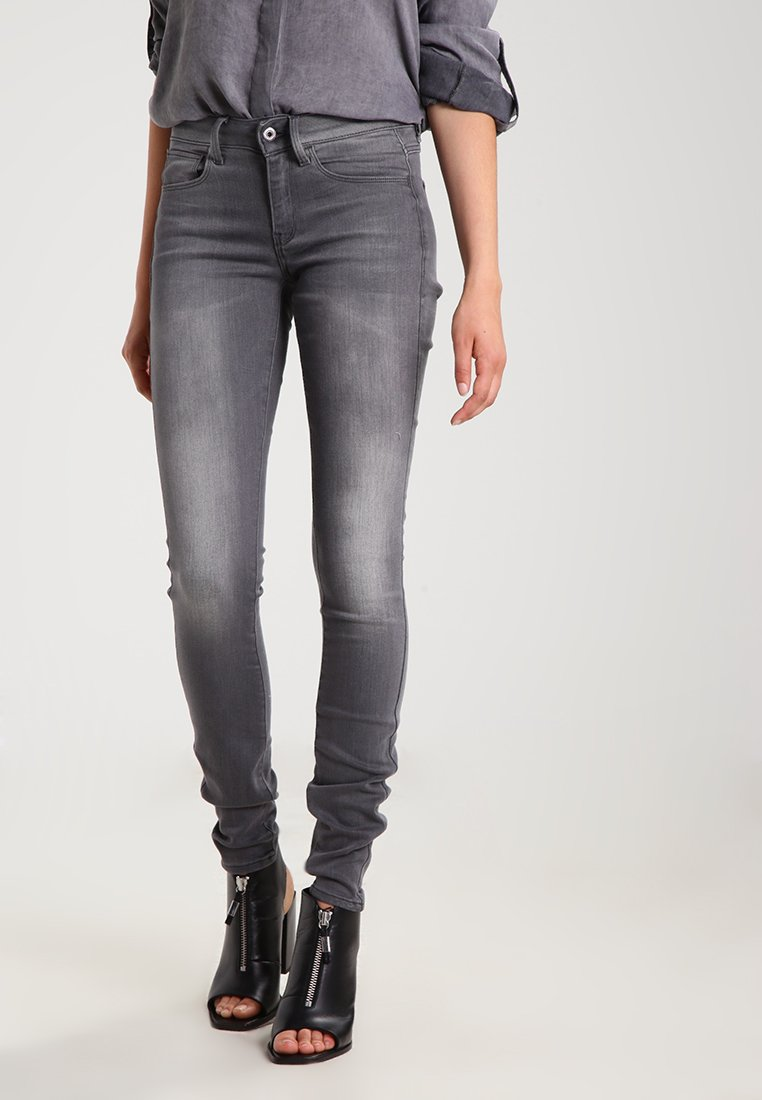 G-Star - 3301 MID SKINNY - Jeans Skinny Fit - slander grey superstretch