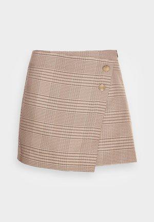 ONLGLOSS SKIRT - Mini skirt - humus/spiced apple/black