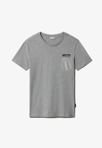 SAMIX - Basic T-shirt - medium grey melange