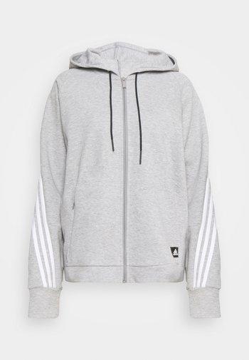 LINEAR FULL ZIP ESSENTIALS SPORTS HOODIE - Zip-up hoodie - mgreyh/white
