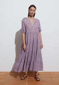 OYSHO - LONG STAMP  - Maxi dress - mauve - 0