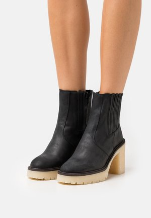 JAMES CHELSEA BOOT - High heeled ankle boots - black