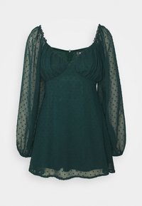 MILKMAID SKATER DRESS DOBBY - Day dress - dark green