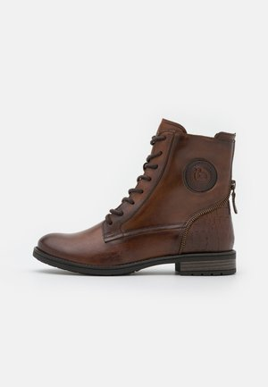 RONJA - Lace-up ankle boots - dark brown