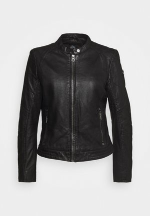 GGNIDEL LAMAS - Leather jacket - black
