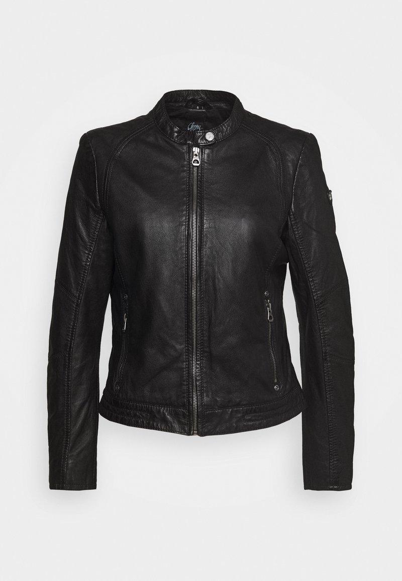 Gipsy - GGNIDEL LAMAS - Kožená bunda - black