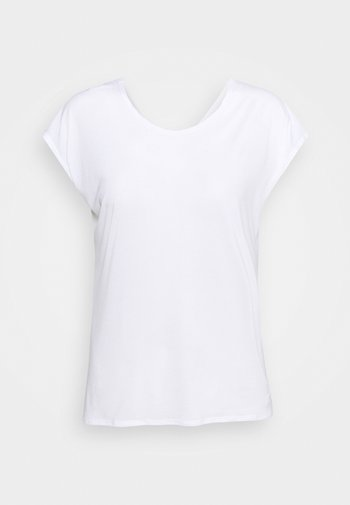SHORT SLEEVE TECH TEE  - T-shirts med print - white