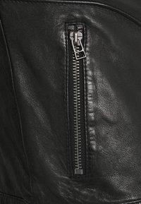 Goosecraft - ADRIAN BIKER - Kožená bunda - black - 7