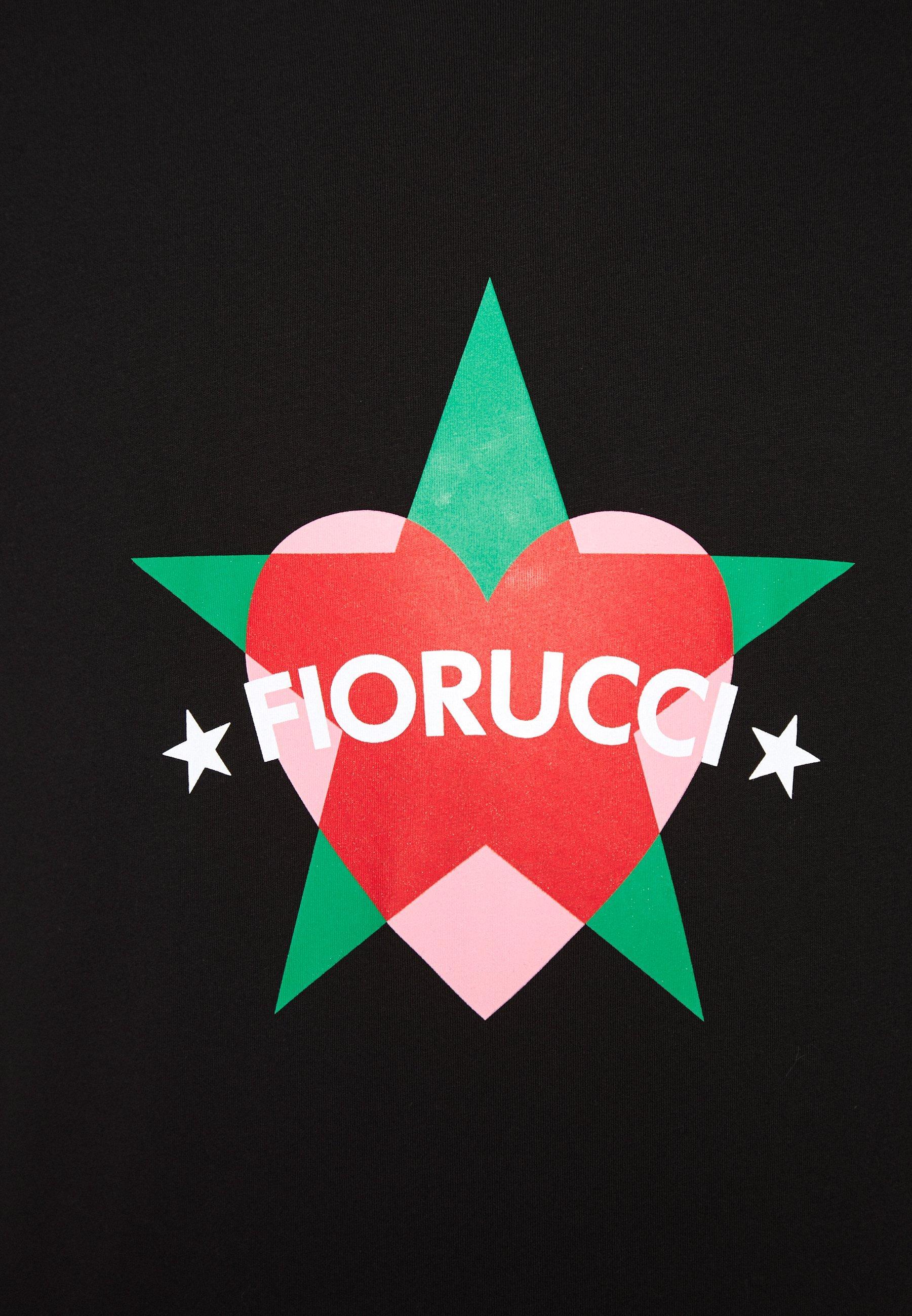 Fiorucci STAR AND HEART TEE  - T-shirt imprimé - black