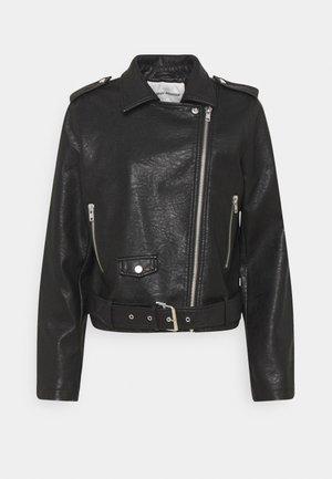 JACKER RAVEN - Kožená bunda - black