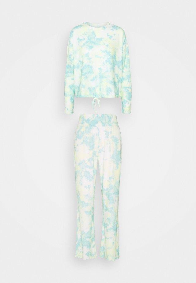 DRAW CORD CREW WIDE LEG PANT - Pyjama - multi tie dye