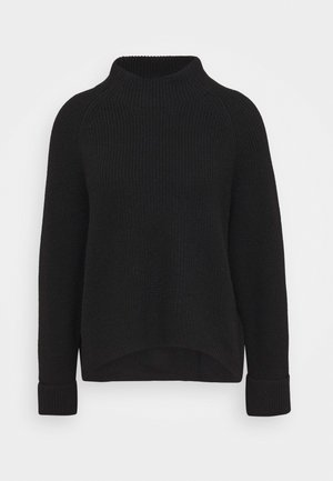 BOXY LONG SLEEVE RAGLAN CROPPED LENGTH - Strikpullover /Striktrøjer - pure black