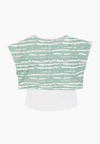 South Beach - GIRLS PRINTED TEE - T-shirt z nadrukiem - sage green - 1