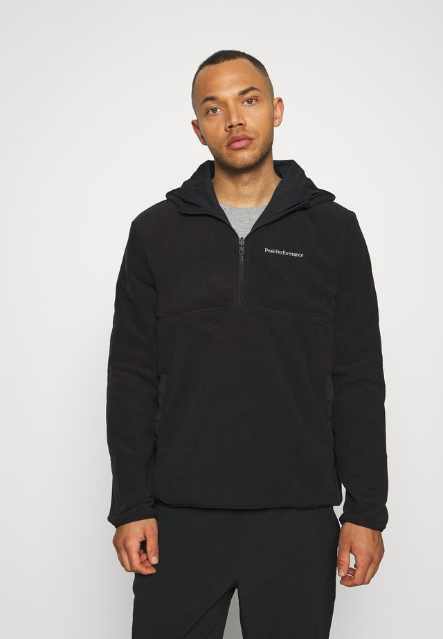 TECH SOFT - Zip-up hoodie - black