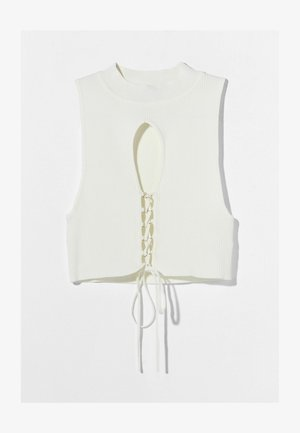 WITH EYELETS - Top - white