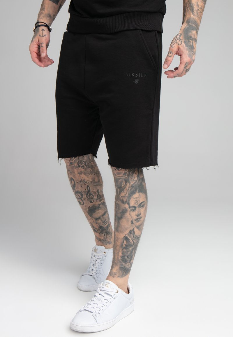 SIKSILK - RELAXED CREW  - Shorts - black