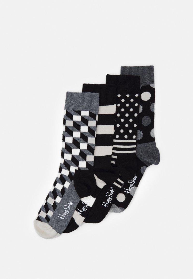 Happy Socks - CLASSIC GIFT SET 4 PACK - Socks - black/white