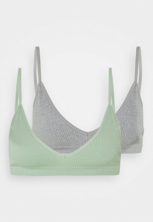 SEAMFREE BRALETTE 2 PACK - Topp - grey marle/mint chip