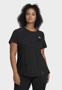 adidas Performance - ADI RUNNER TEE - Basic T-shirt - black - 3