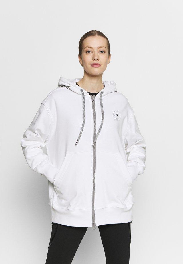 HOODY - Zip-up hoodie - white