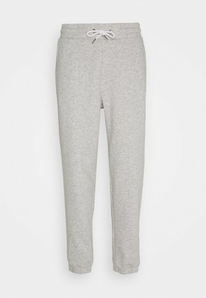 LOOSE FIT JOGGERS UNISEX - Tracksuit bottoms - mottled light grey