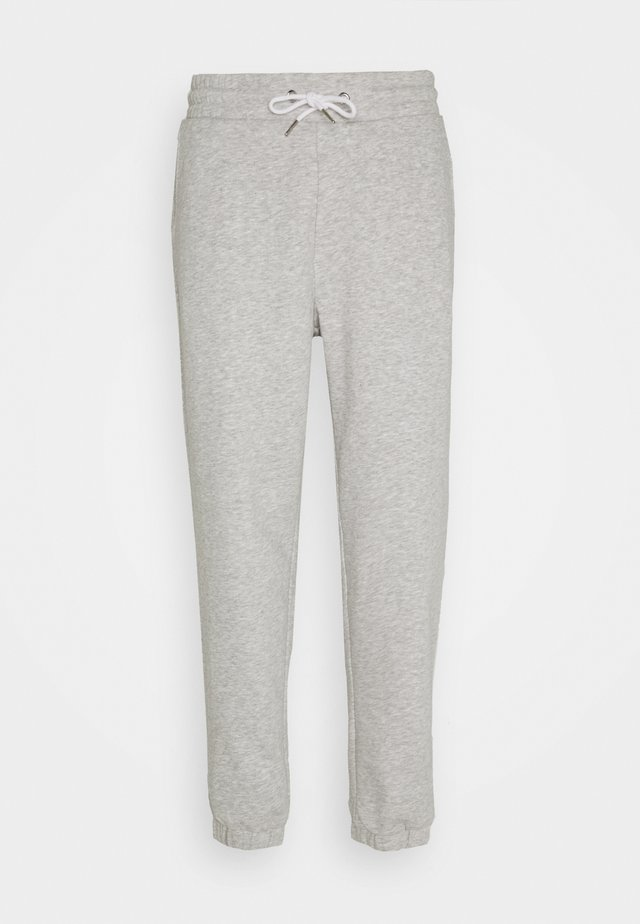 LOOSE FIT JOGGERS UNISEX - Träningsbyxor - mottled light grey
