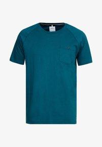 Burton Menswear London - SADDLE SLEEVE TEE - Basic T-shirt - teal - 3