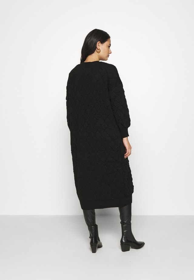 QUILTED CARDI - Gilet - black