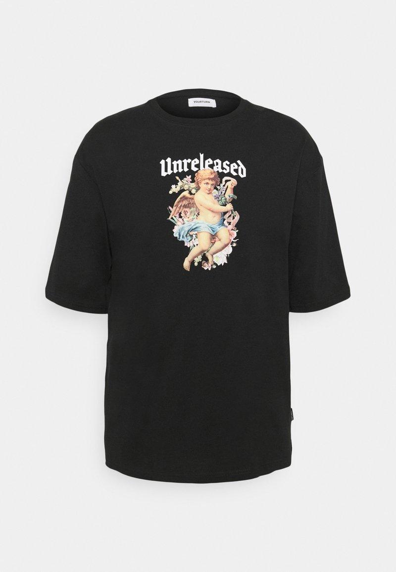 YOURTURN - OVERSIZE UNISEX - T-shirt con stampa - black