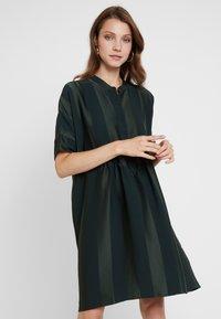 Selected Femme - SLFVIOLA OVERSIZE DRESS - Shirt dress - scarab - 0