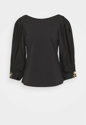 SLEEVE AND PLEATS AT CUFF - Long sleeved top - black