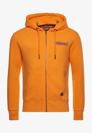 HERITAGE MOUNTAIN GRAPHIC - veste en sweat zippée - vivid marigold