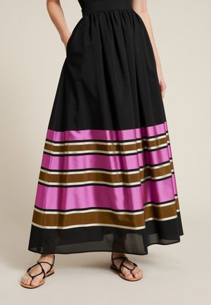 TARTINA - A-linjekjol - nero-multicolor