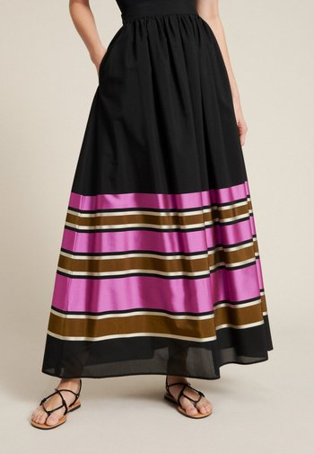 TARTINA - A-line skirt - nero-multicolor