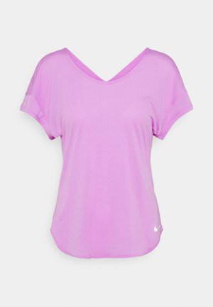 BREATHE COOL - Print T-shirt - fuchsia glow/silver
