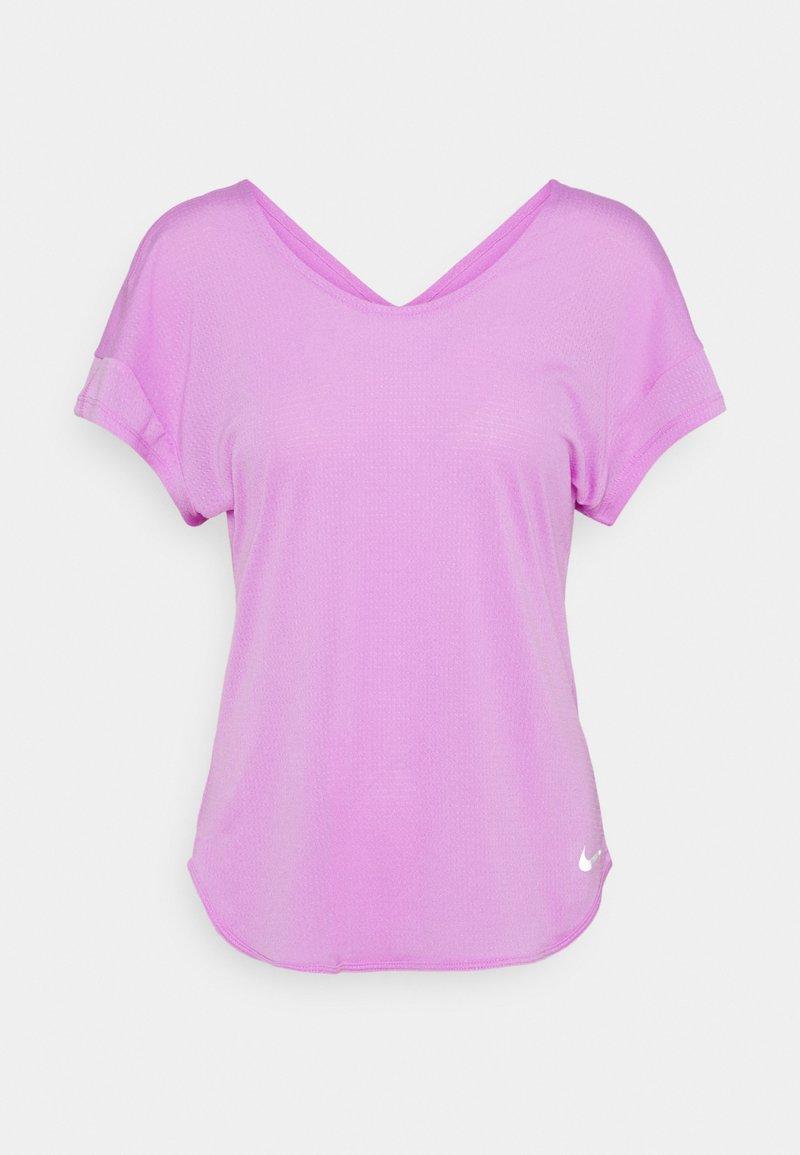 Nike Performance - BREATHE COOL - Camiseta estampada - fuchsia glow/silver