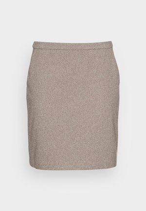 SKIRTS WOVEN - Mini skirt - caramel