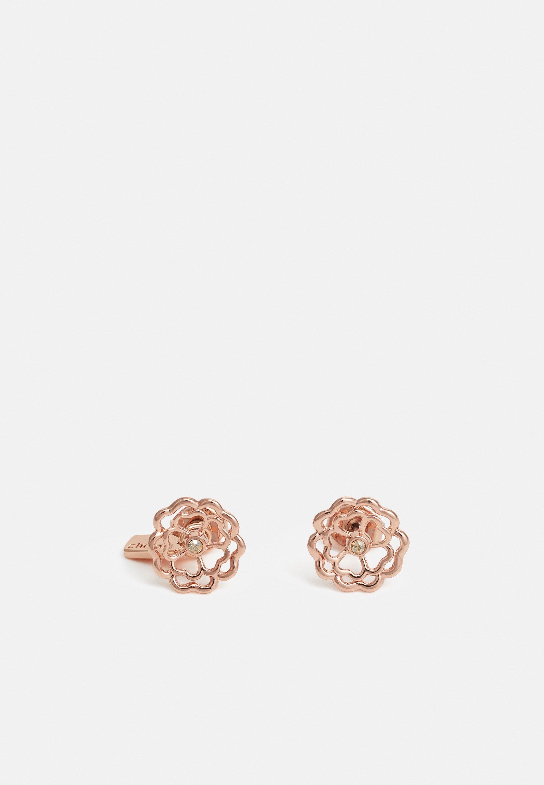 Coach Tea Rose Cutout Stud Earrings Rose Gold Coloured Zalando Ie