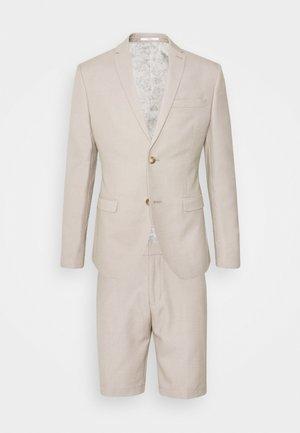 THE FASHION SHORT SUIT STRUCTURE - Kostym - beige
