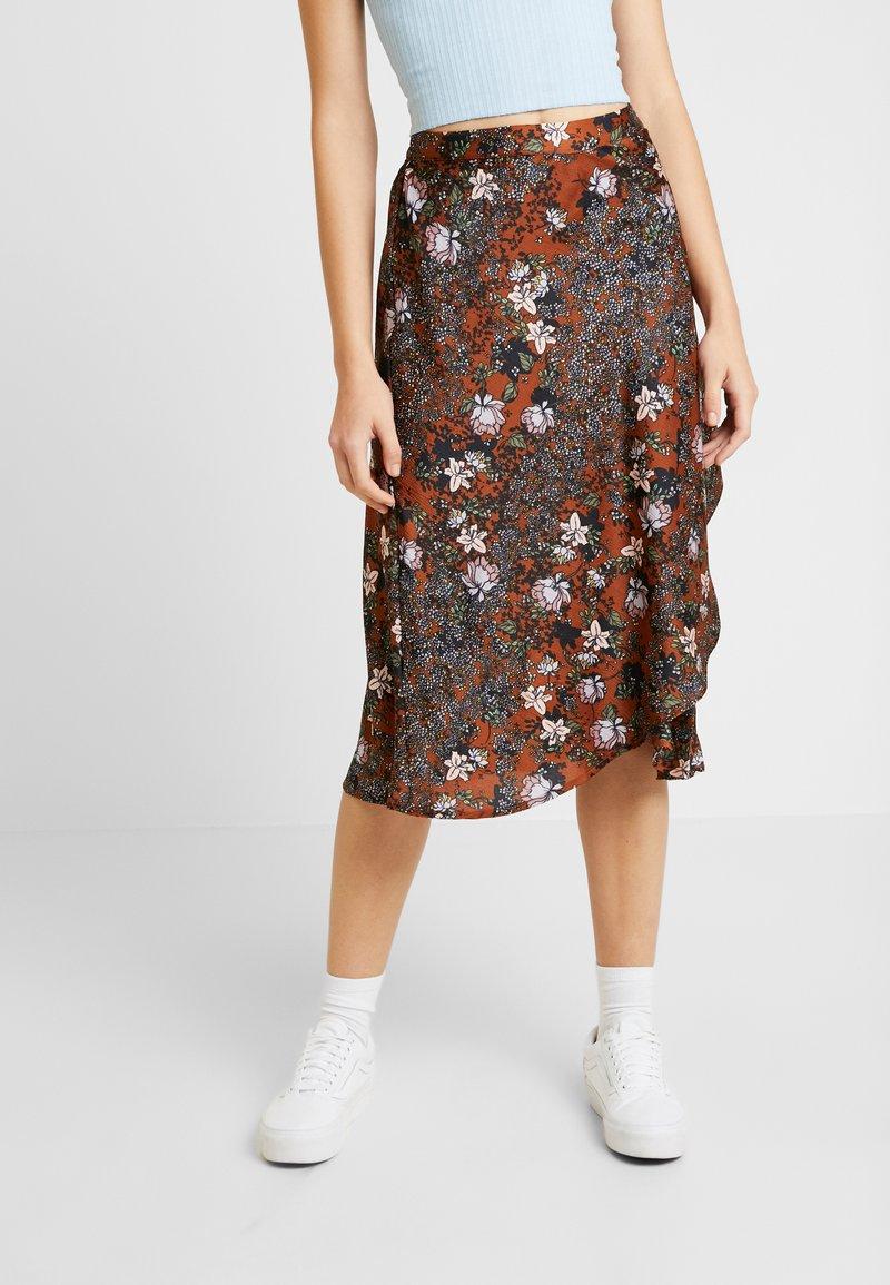 Vero Moda - VMISABEL SKIRT - A-line skirt - brown
