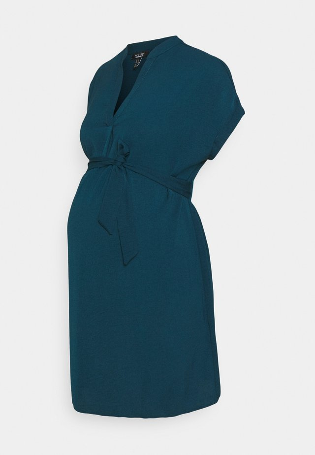MARA OHEAD BELTED TUNIC - Blusa - dark blue