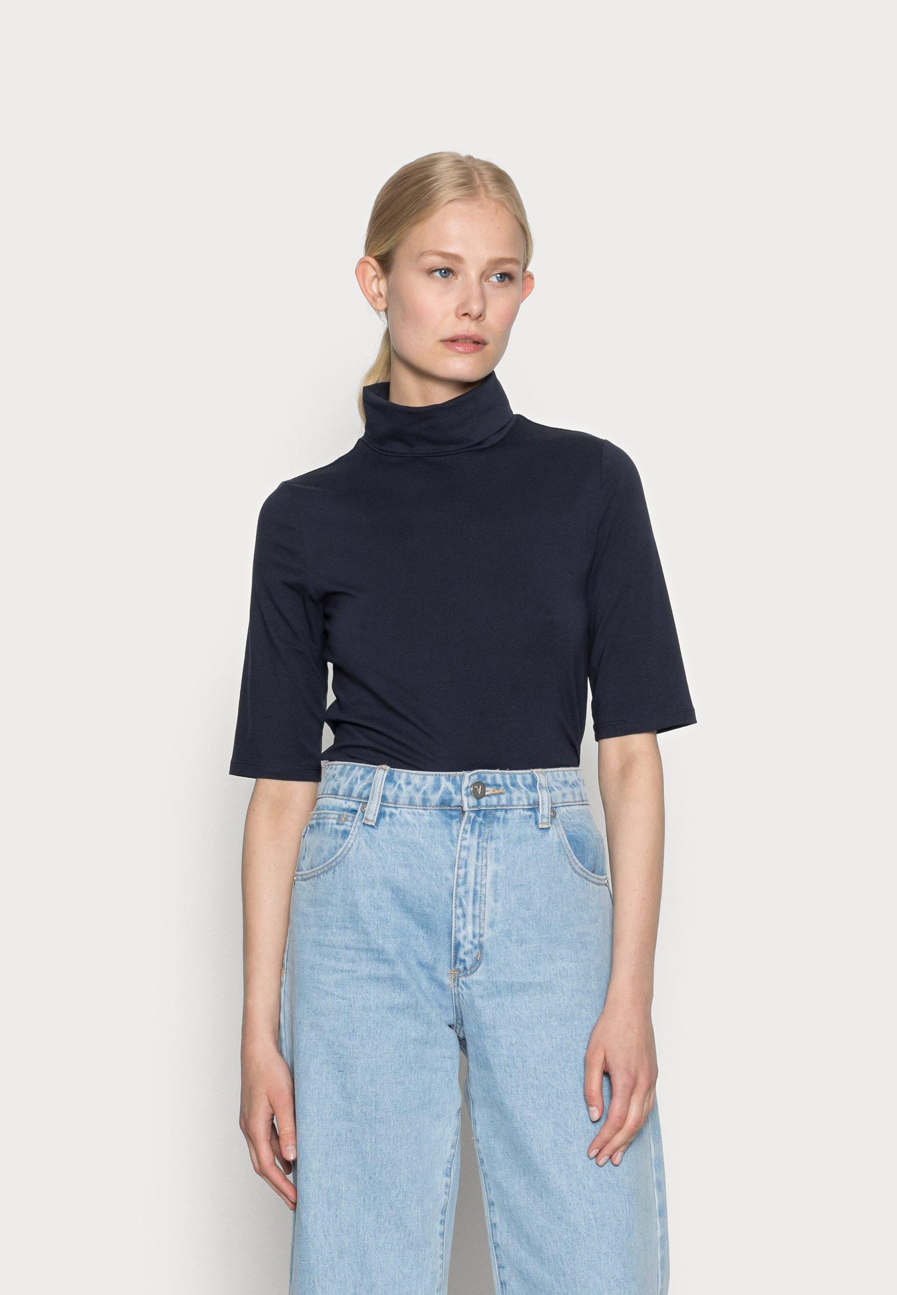 Donna ELA ROLL NECK SHORT - T-shirt basic
