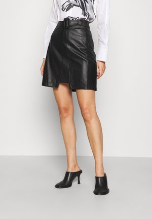 RANCHERA LUXURY SKIRT - Mini skirt - black