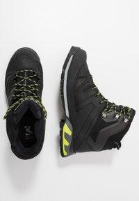 Millet - HIGHROUTE GTX - Walking boots - black/acid green - 1