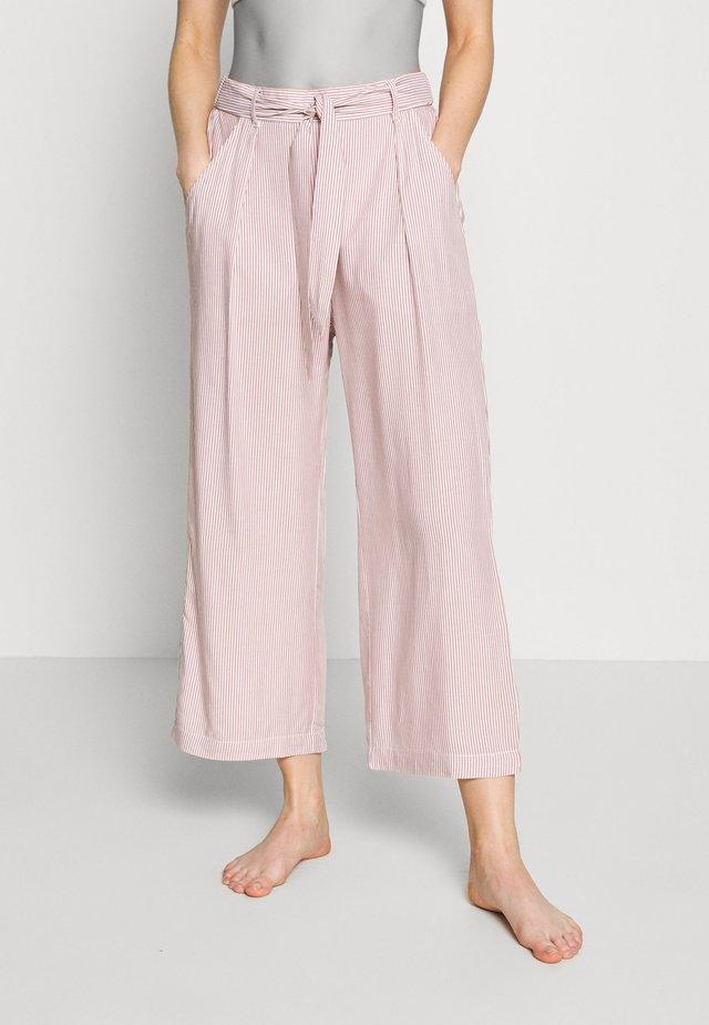 MIX & MATCH HIGH WAIST CROPPED TROUSERS - Pyžamový spodní díl - rust