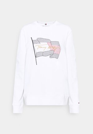 REGULAR FLAG - Sweatshirt - white